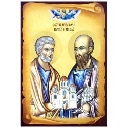 Sveti apostoli Petar i Pavle - Petrovdan (32x22) cm