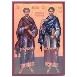 Sveti Kozma i Damjan - Vračevi (33x23) cm