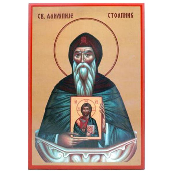 Sv. Alimpije Stolpnik (33x23) cm