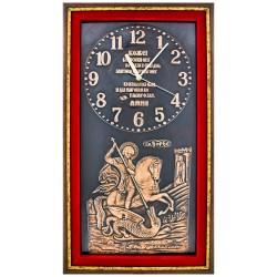Сат са иконом Свети Ђорђе (54x32) cm