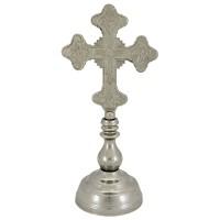 Krst metalni sa postoljem (nikl)