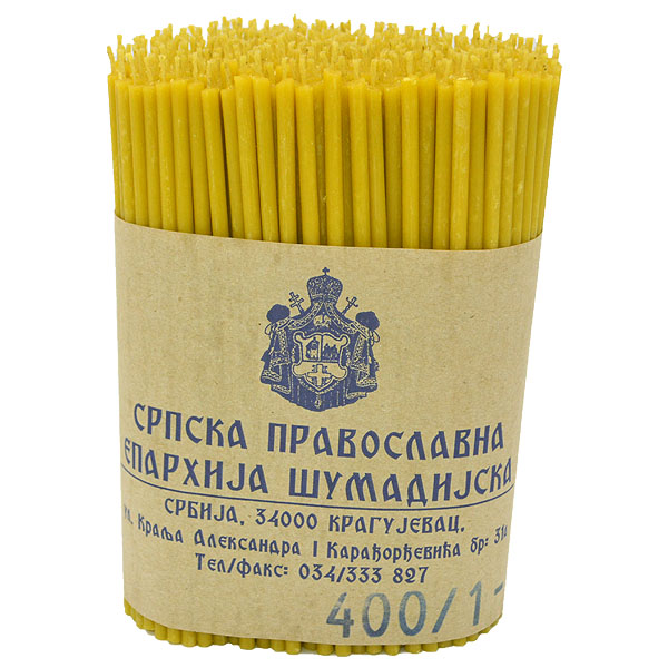 Sveće od pčelinjeg voska 400/1 (1 kg)