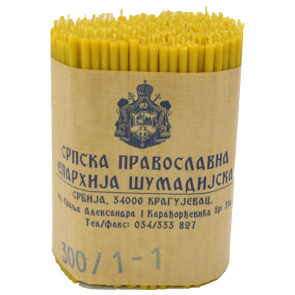 Sveće od pčelinjeg voska 300/1 (1 kg)